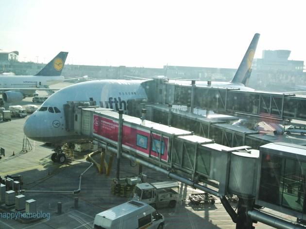 happyhomeblog fliegt das erste mal in einer A380. Toll. Auf nach Florida.