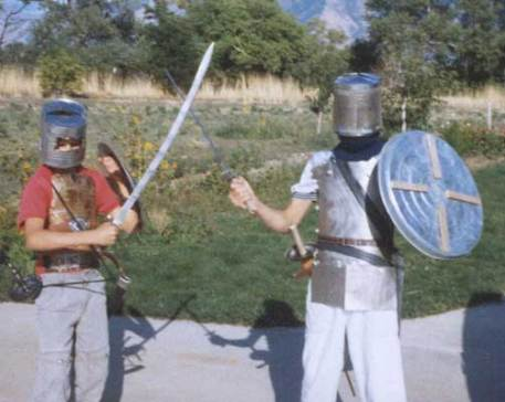 My sons Nathan and Mark made their own armor from tin cans and other metal!