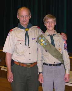 Scoutmaster Dad and Ammon