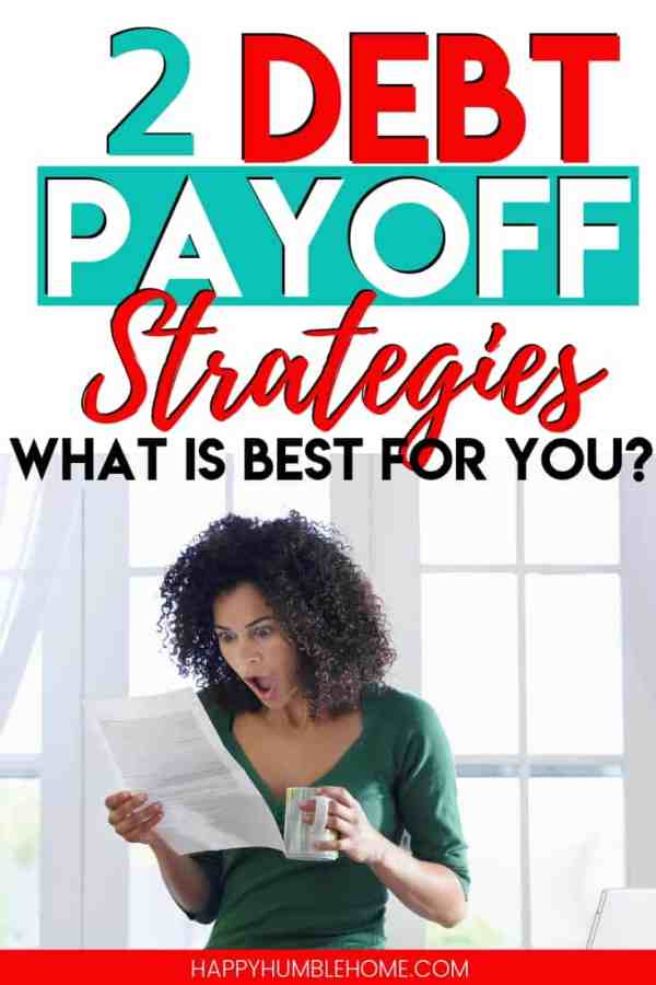 2 Debt Payoff Strategies: How to choose the best one for you - Do you feel like you're drowning in debt? Do you want to know if you should use the debt snowball or the debt avalanche to get out of debt? Read to find out how to pay off your debt fast. Free printable debt tracker included!
