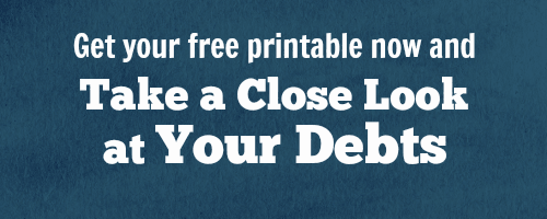 The 2 Ways to Pay Off Debt: which one is right for me? free printable