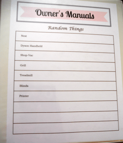 How to Organize Owner's Manuals