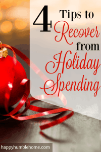 4 Tips to Recover from Holiday Spending