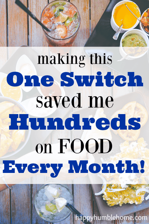 The Easiest Way to Save Money on Food! I made this one switch and I'm saving HUNDREDS on food every month!