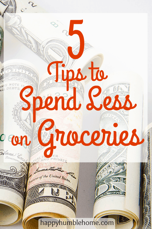 5 Tips to Spend Less on Groceries! I only spent $45 on my groceries this week using these tips! #5 is surprising!