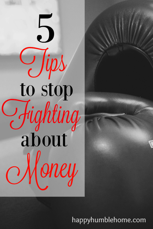5 Tips to Stop Fighting about Money - Stop the argument and start working together with these 5 tips!