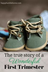 The True Story of a Wonderful First Trimester