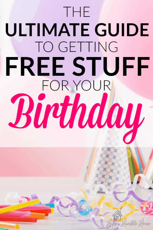 The Ultimate Guide to Birthday Freebies - Learn how to get free stuff on your special day. It's so much easier than you would think. I already got a free birthday treat!!