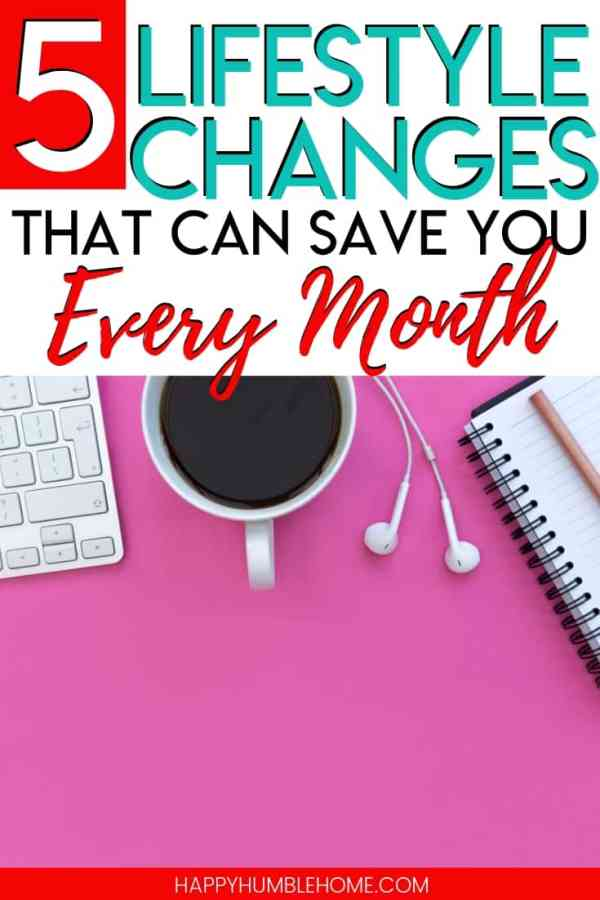 5 Changes that will save you money every month - These frugal living tips will save you money every single month! These are simple swaps that anyone can make! What could you do with an extra $100 or more every month? That's 1200 a year!