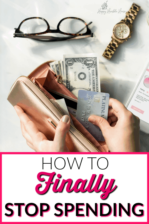 How to Finally Stop Spending - If you're struggling with your shopping habit and spending too much money this post is for you! These tips will help you live within your means and save money by cutting back on spending and getting control of your money. Must read!!!