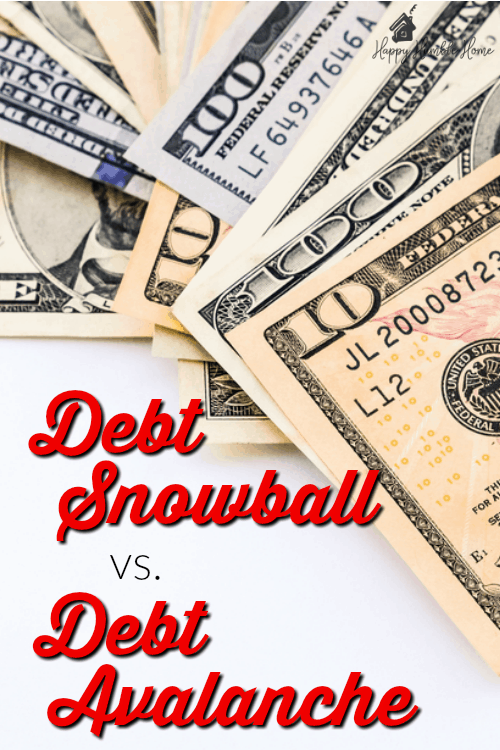 The Debt Snowball vs. the Debt Avalanche - Everything you need to know to decide which method will help you pay off your debt and get out of debt for good.