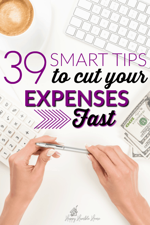 39 Smart tips to cut your expenses fast! If you want to save money, spend less, and be able to afford more - even if you're not great a budgeting - you have to read this!!