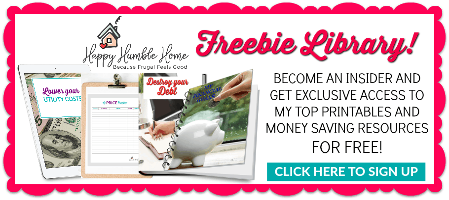 Sign up here and get access to the money saving freebie library!
