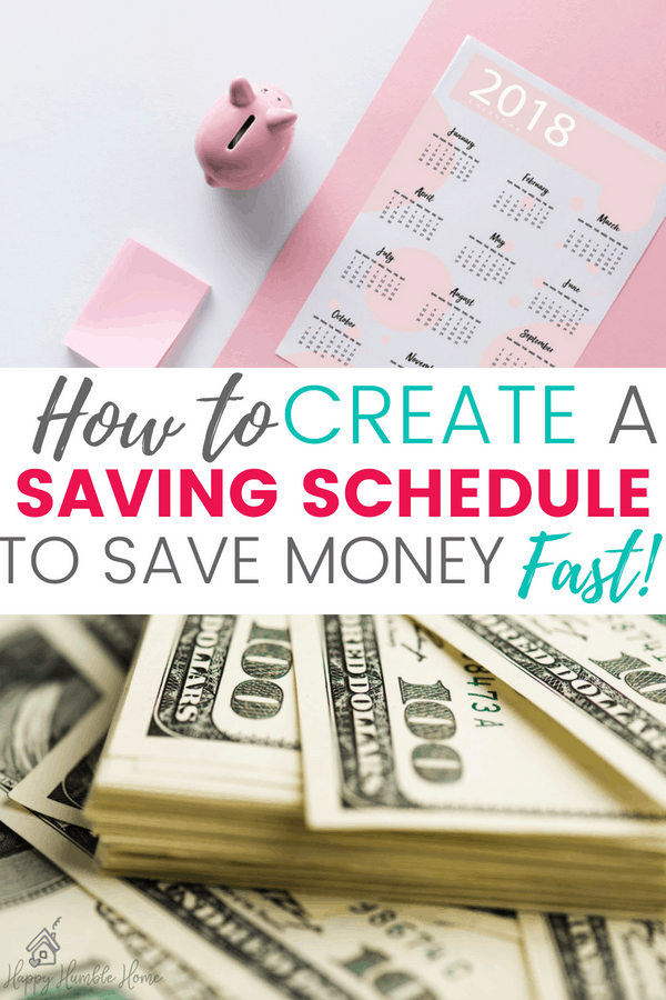 How to Create a Saving Schedule to Save Money FAST - If you want to amp up your savings, you need a plan to get you there and this post will walk you through exactly how to create that plan. It will help you save money to buy a house, pay off debt or reach any financial goal. Great tips!