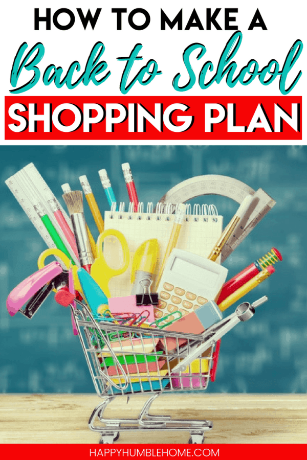 How to Make a Back to School Shopping Plan - Simple tips to get back to school supplies and back to school clothes while sticking to your budget.