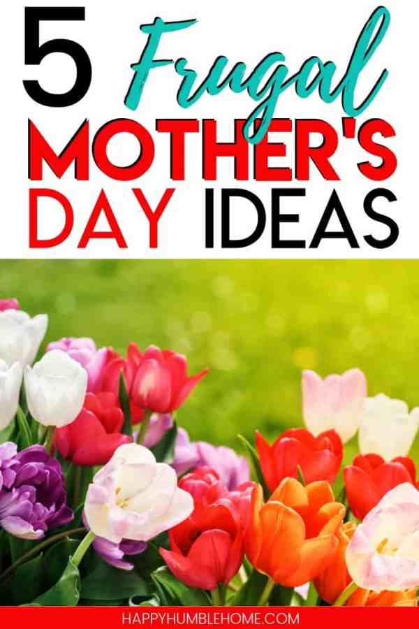 5 Frugal Mother's Day Ideas - You can have a happy Mother's Day this year and still save money. These 5 simple ideas will make saving money easy and help you cover everything from food, to gifts, and even the ultimate hack for what mom really wants!