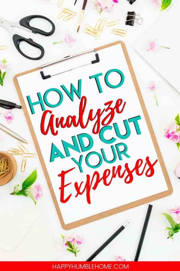 How to Analyze and Cut Your Expenses - Learn how to track and analyze your expenses so you can cut them strategically and save as much money as possible. You can do this in a way that doesn't impact your quality of living. Just follow this easy 3 step process. The free printable guide is amazing!