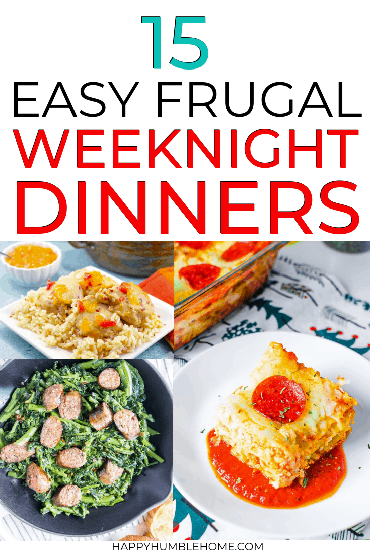 frugal weeknight dinners with 5 ingredients or less
