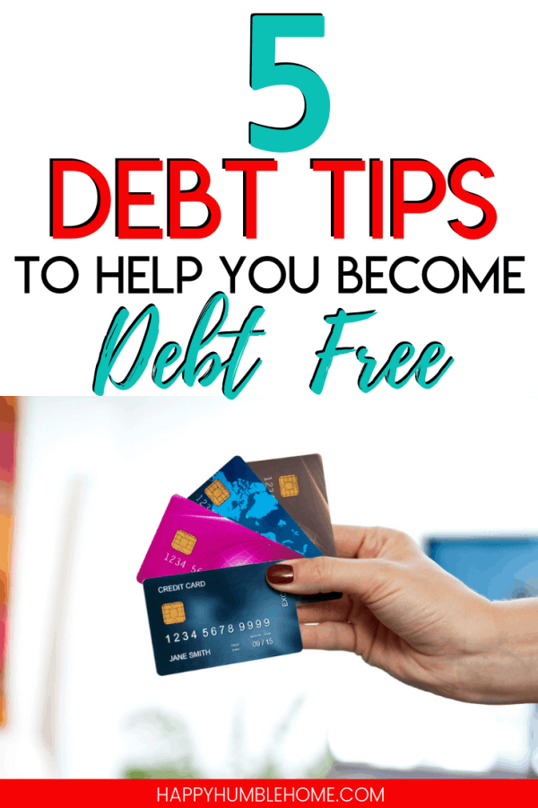 5 debt payoff tips to help you become debt free