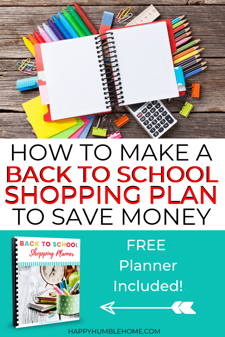 How to make a Back to School Shopping Plan to Save Money