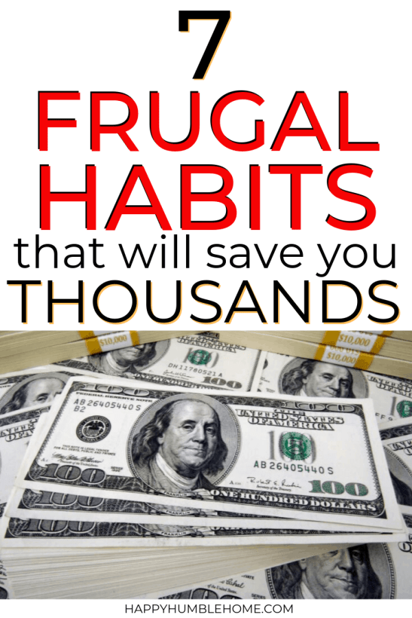 These frugal living habits will help you save so much money! These tips for beginners will make a homemade, DIY, Penny Pinching lifestyle within reach. You'll be able to pay off debt, save money for your big goals and reduce the stress with your personal finance.