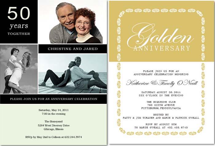 5oth Wedding Anniversary Invitations