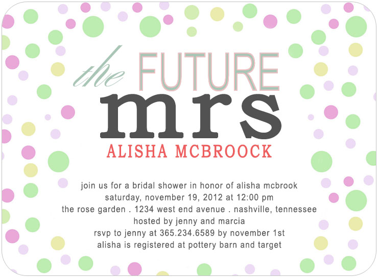 The Future Mrs Bridal Shower Invitation Card Hpb128