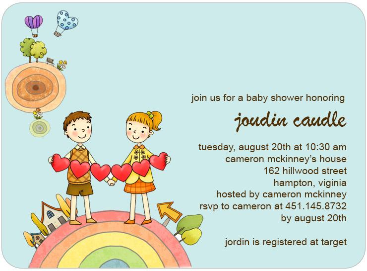 Cheap Beach Bridal Shower Invitations