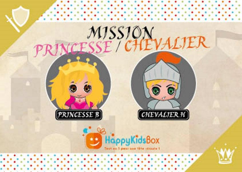box anniversaire princesse et chevalier