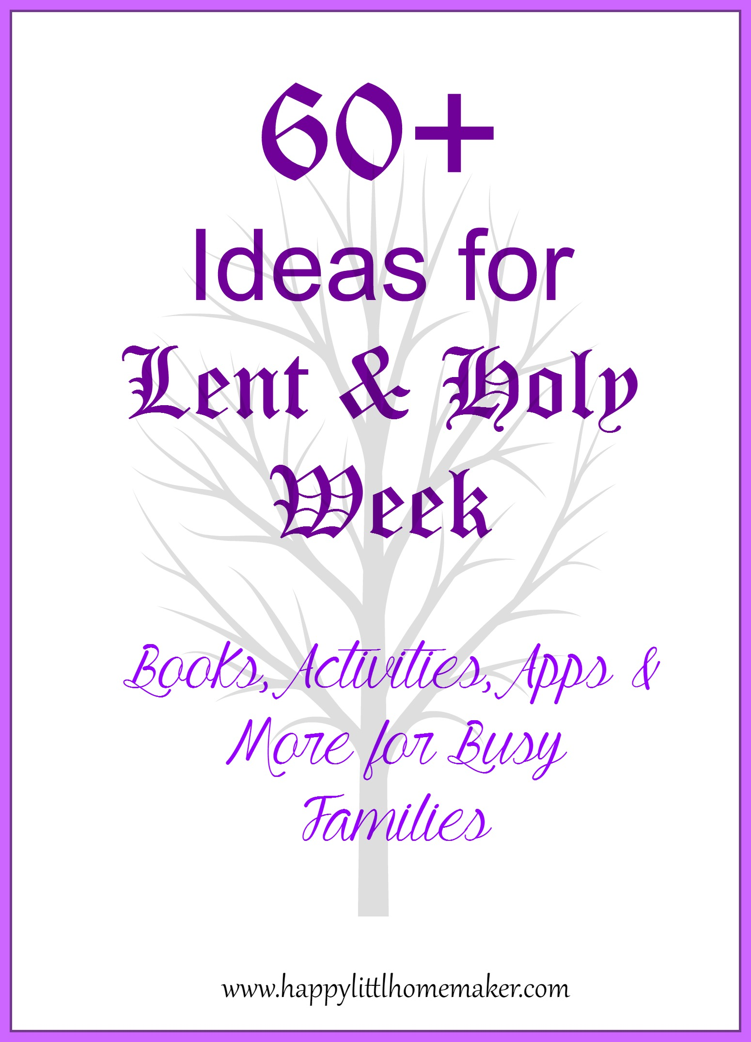 60 Ideas For Lent Amp Holy Week