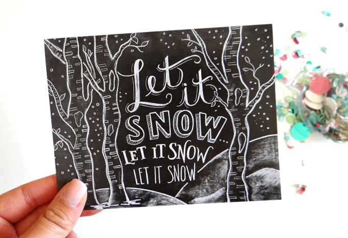 Lily & Val - card - Let it snow