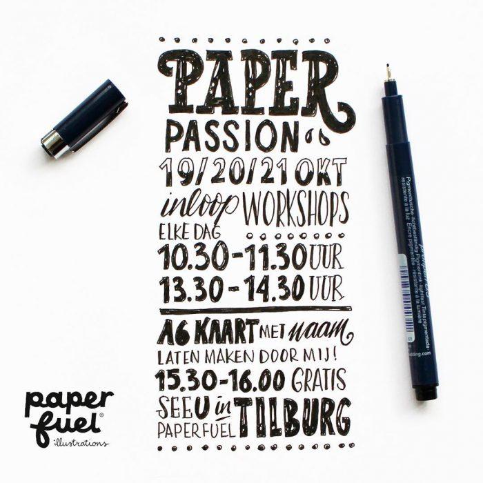 Paperfuel handlettering workshops PaperPassion HappyMakersBlog
