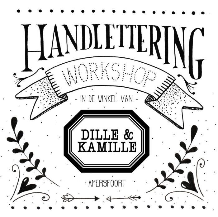 Leoni de Haas Workshop handlettering Dille & Kamille HappyMakersBlog