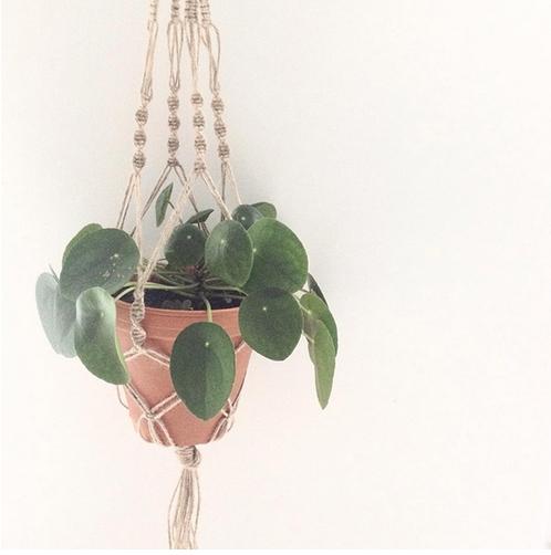 Macrame planten hanger workshop atelier van eva HappyMakersblog