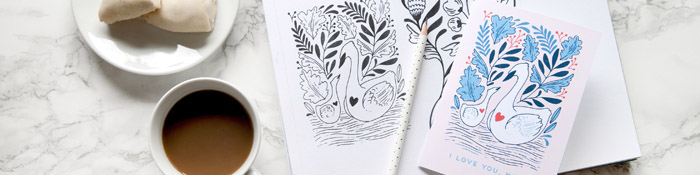 Paper Raven Co Swan sfeer