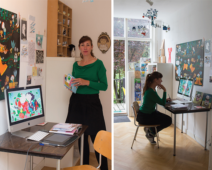 Aan de tekentafel Caroline Ellerbeck Werkplek thuis HappyMakersBlog