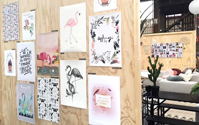 Flavourites Feest Illustratie muur HappyMakersBlog 2