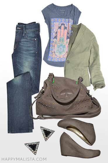 Spring capsule wardrobe outfit