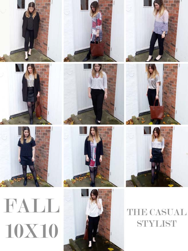 fall outfits 10x10 challenge