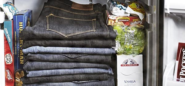 wash denim in freezer
