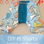 DIY Baby PJ Shorts