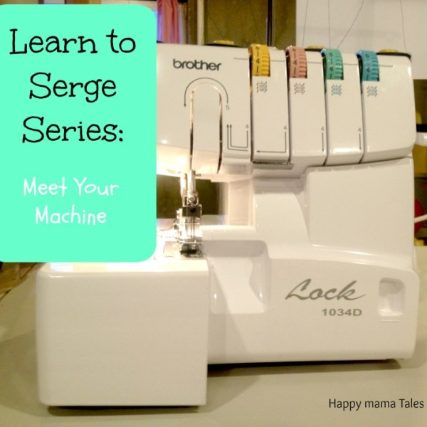 Review each part of your serger machine to better understand every function