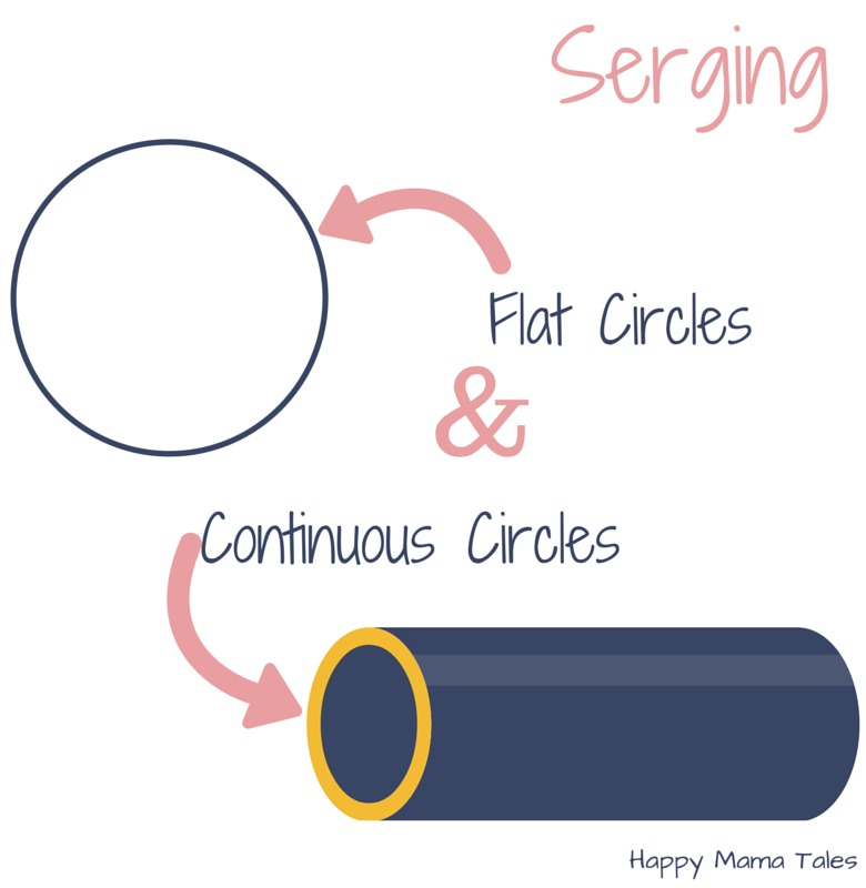 Know the difference between serging flat circles and continuous circles! These great tips will help you serge circles