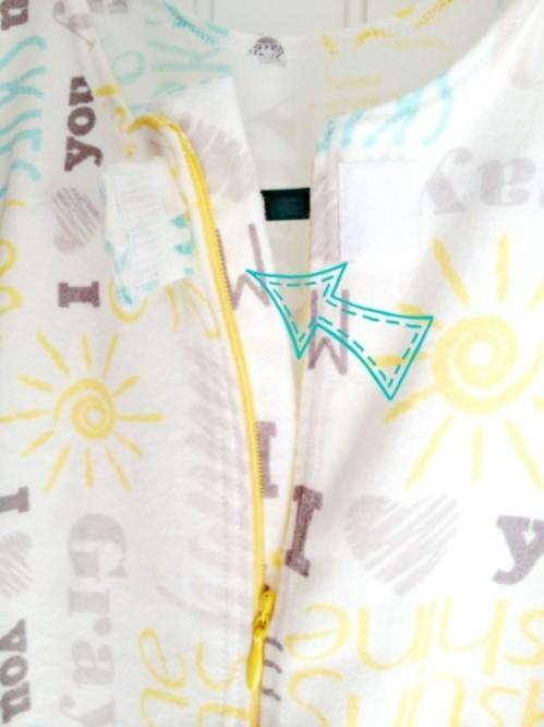 diy sleep sack zipper cover inside