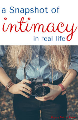 A Snapshot of Intimacy in Real Life