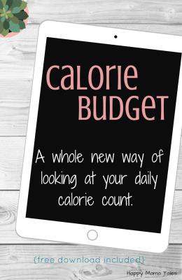 Calorie Budget – A Whole New Way of Looking at Dieting