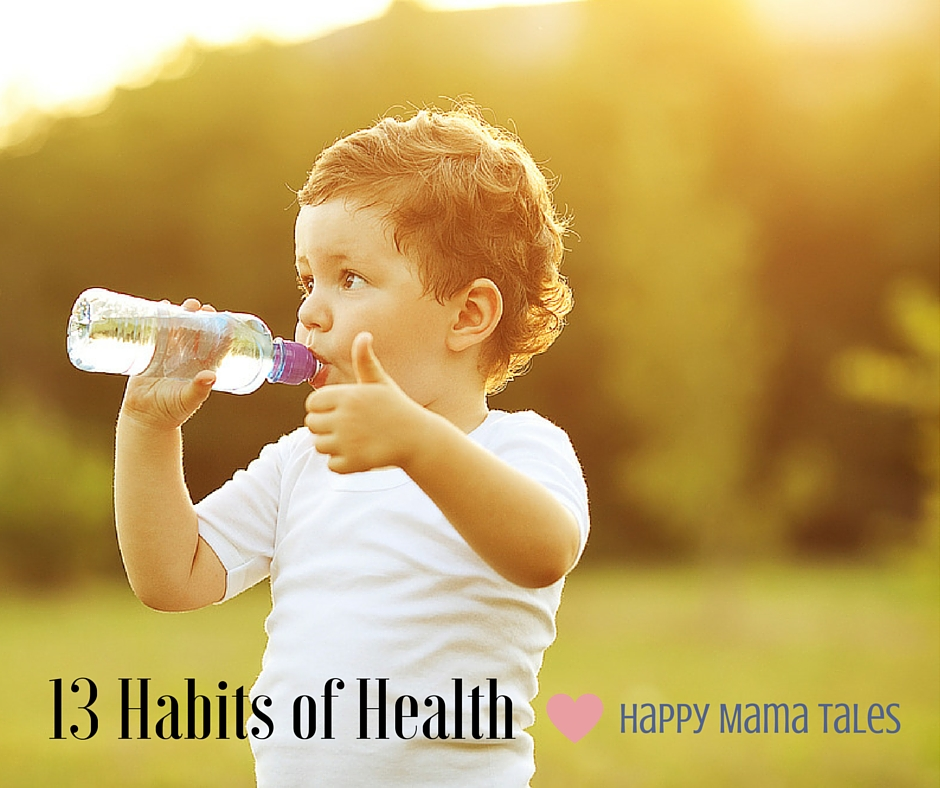 Drinking water is so important! Water rebuilds your body, flushes out waste and fat! Drinking water is one of the 13 habits of health for moms!