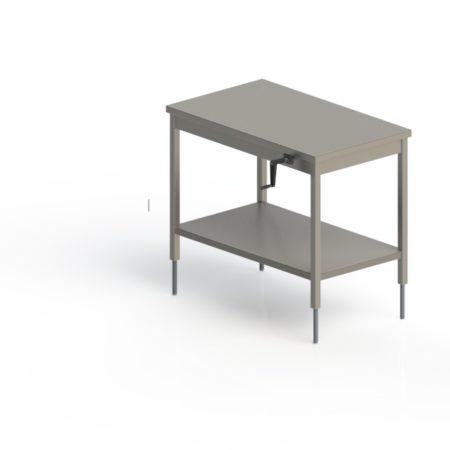 table inox centrale fixe hauteur