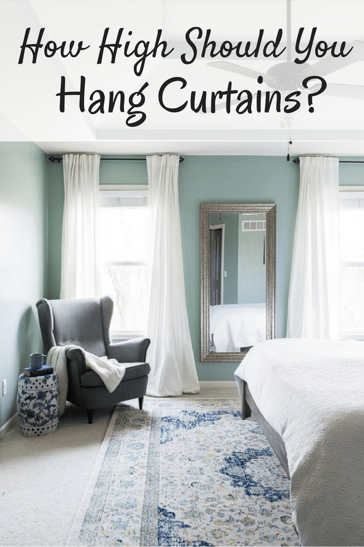 how high to hang curtains collected