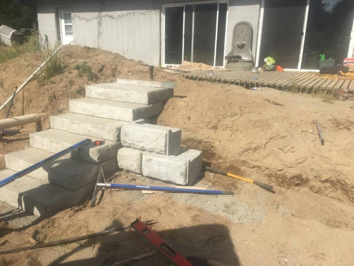 Concrete Wall – Half done – HappyMillFam